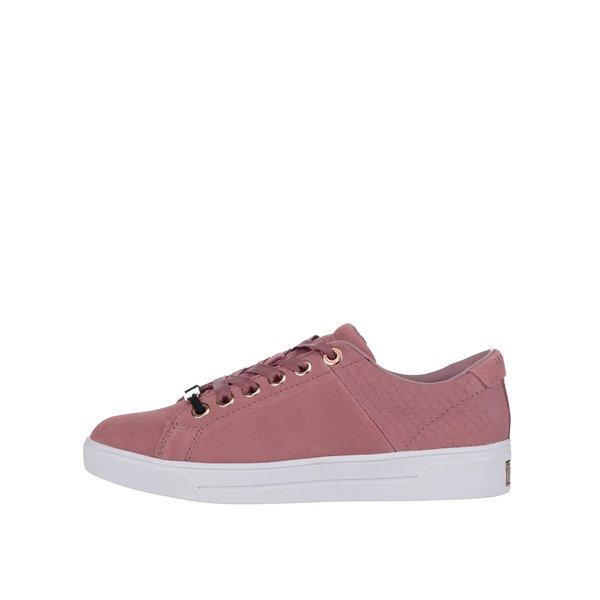 Teniși roz Ted Baker Riwven din piele de la Ted Baker in categoria pantofi sport și teniși