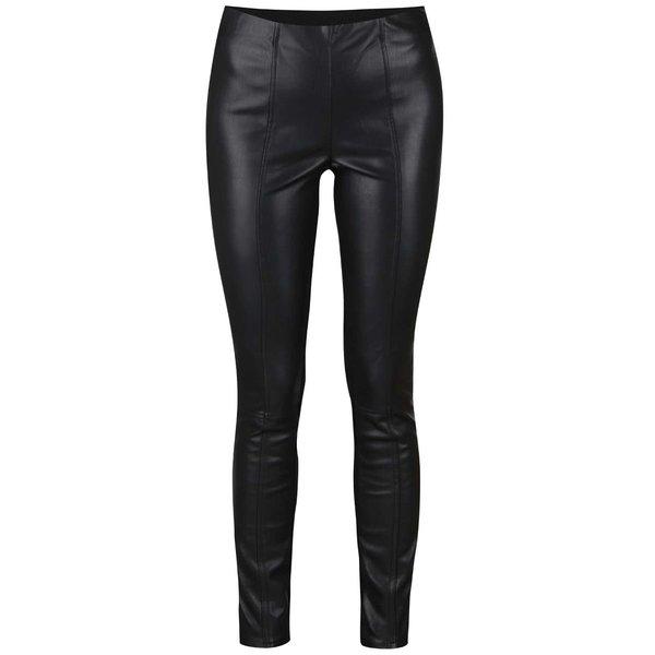 Colanți negri din material ce imită pielea VILA Pen de la VILA in categoria Blugi, pantaloni, colanți