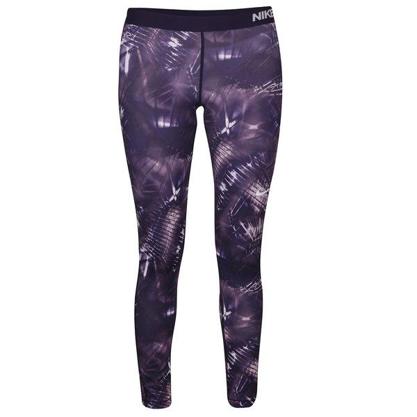 Colanți violet Nike Pro Warm Tight cu imprimeu