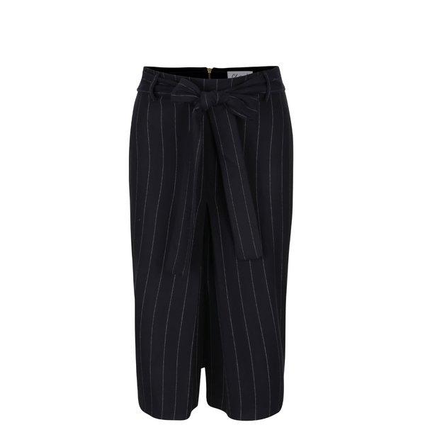 Fustă pantalon neagră cu dungi Closet