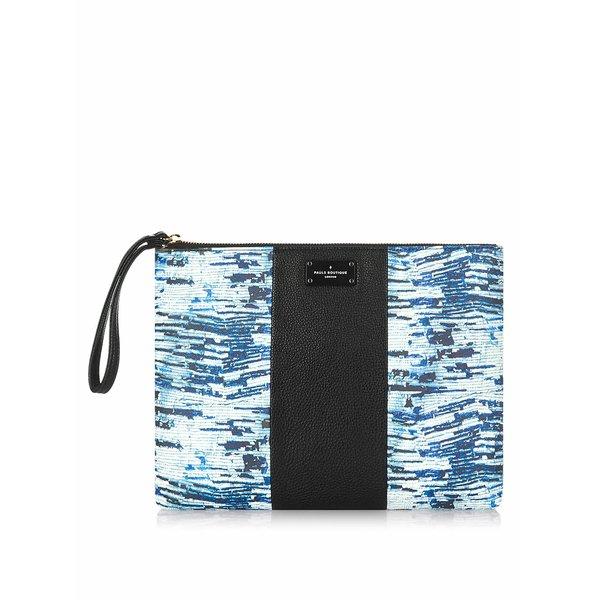 Geantă plic negru cu albastru Pauls Boutique Stephanie