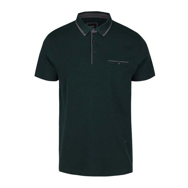 Tricou polo verde închis cu buzunar Burton Menswear London de la Burton Menswear London in categoria tricouri polo