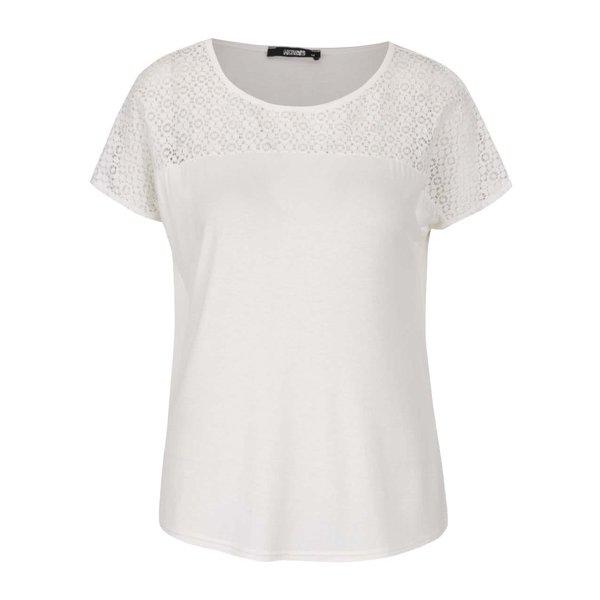 Tricou alb fildeș Haily´s Livia cu inserție brodată