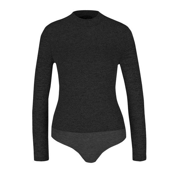 Body gri închis TALLY WEiJL cu model discret de la TALLY WEiJL in categoria Topuri, tricouri, body-uri