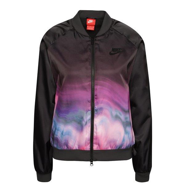 Jachetă bomber Nike Sportwear neagră cu model de la Nike in categoria Geci, jachete și sacouri
