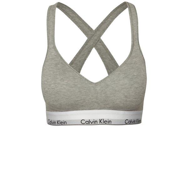 Bustiera gri cu logo Calvin Klein de la Calvin Klein in categoria Lenjerie intimă, pijamale, costume de baie