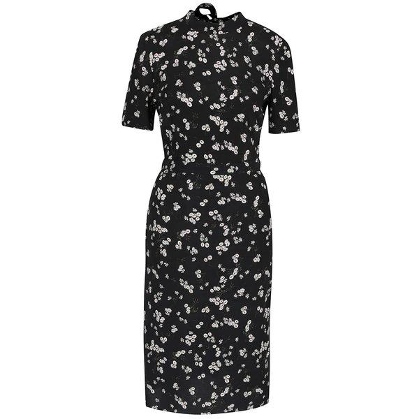 Rochie albastru închis cu imprimeu floral Miss Selfridge