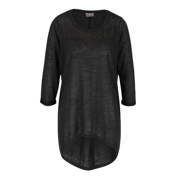 Bluză gri închis cu mâneci trei sferturi VERO MODA Vita