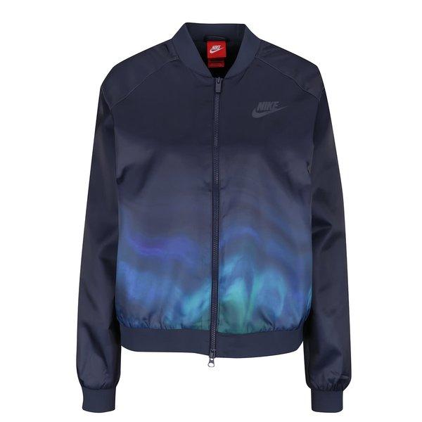 Jachetă bomber albastru închis Nike Sportwear cu imprimeu pentru femei de la Nike in categoria Geci, jachete și sacouri