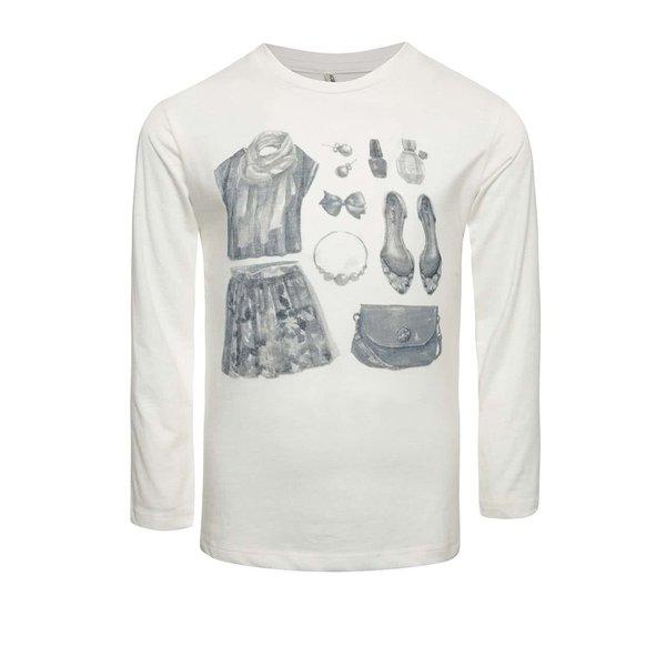 Bluză crem North Pole Kids cu print pentru fete de la North Pole Kids in categoria Tricouri, camasi