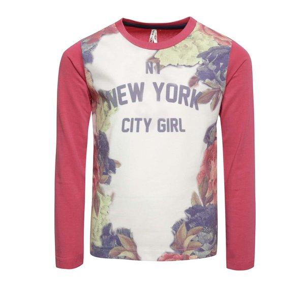 Bluză roz & crem North Pole Kids pentru fete cu print de la North Pole Kids in categoria Tricouri, camasi