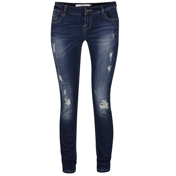 Jeanși albaștri cu aspect uzat VERO MODA Five de la VERO MODA in categoria Blugi, pantaloni, colanți