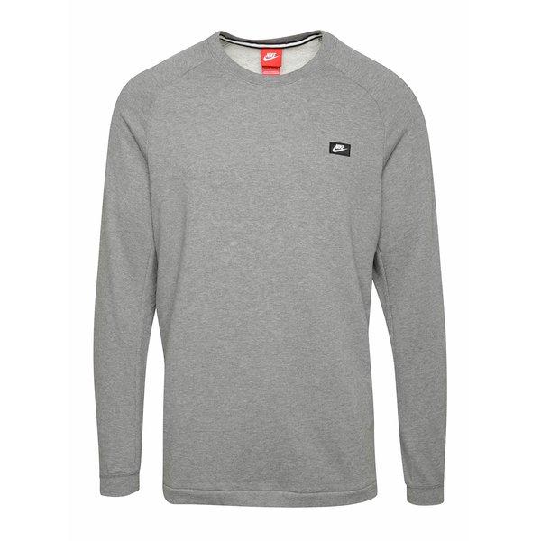 Bluza sport gri melange cu logo pentru barbati Nike Modern