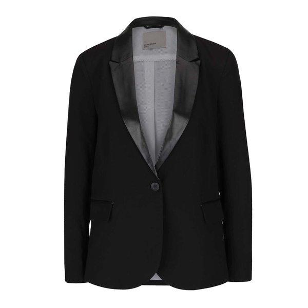 Sacou negru cu detalii din imitație de piele VERO MODA Scarlett de la VERO MODA in categoria Geci, jachete și sacouri