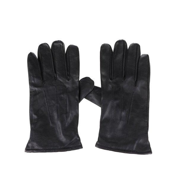 Mănuși negre Selected Homme Jonas din piele