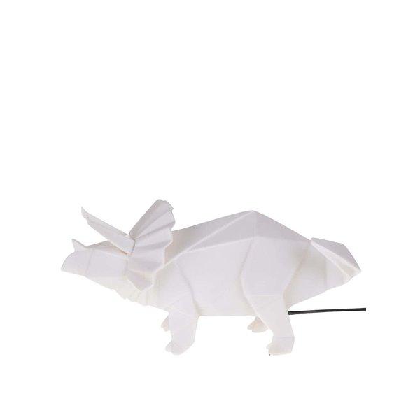 Lampă albă Disaster în formă de dinozaur