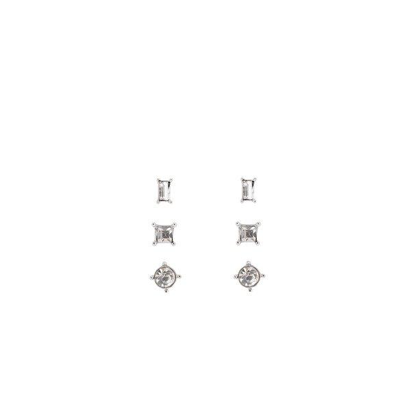 Set de 3 perechi de cercei argintii cu șurub Pieces Dolly de la Pieces in categoria Ceasuri și bijuterii