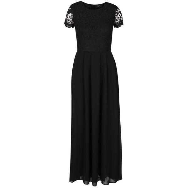 Rochie lungă neagră AX Paris cu detaliu din dantelă de la AX Paris in categoria rochii de seară