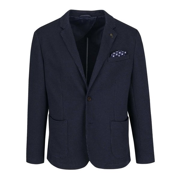 Sacou albastru închis Selected Homme Done Allen cu model discret de la Selected Homme in categoria Geci, paltoane, jachete