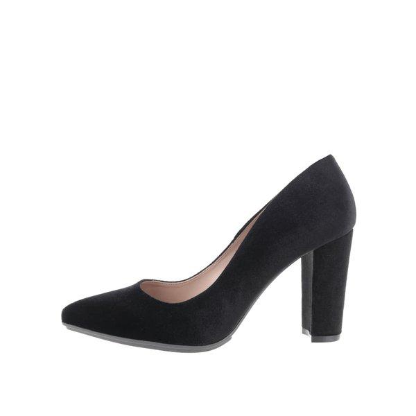 Pantofi negri OJJU cu toc gros de la OJJU in categoria pantofi cu toc