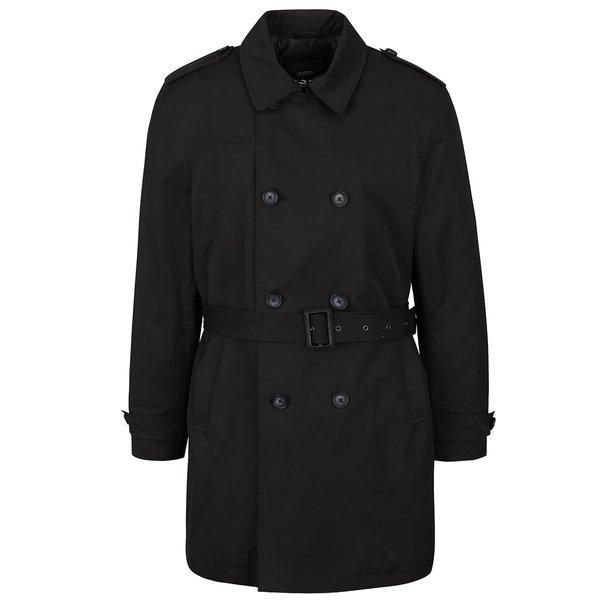 Palton negru Burton Menswear London cu închidere dublă de la Burton Menswear London in categoria Geci, paltoane, jachete
