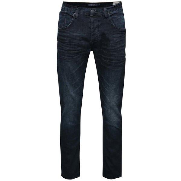 Jeanşi slim fit albastru închis cu aspect prespălat Blend de la Blend in categoria Blugi, pantaloni, pantaloni scurți