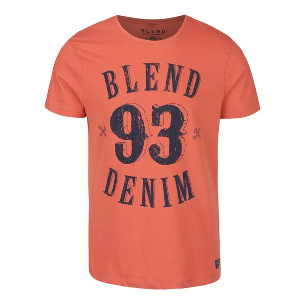 Tricou portocaliu cu imprimeu personalizat Blend