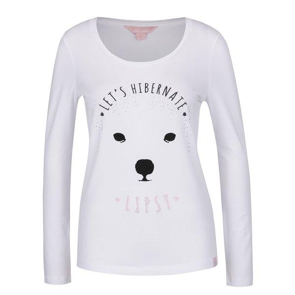 Bluză de pijama Lipsy albă cu print