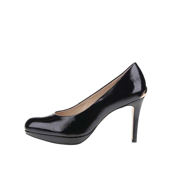 Pantofi negri Högl din piele cu detaliu auriu de la Högl in categoria pantofi cu toc
