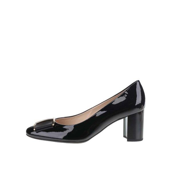 Pantofi negri Högl din piele cu aspect lucios