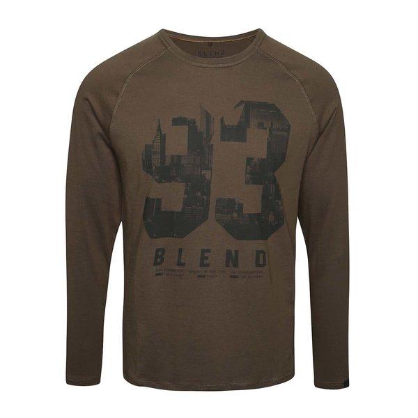 Bluză kaki Blend din bumbac cu print de la Blend in categoria bluze