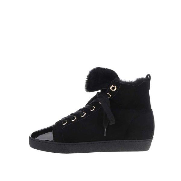 Pantofi sport negri Högl din piele întoarsă de la Högl in categoria pantofi sport și teniși