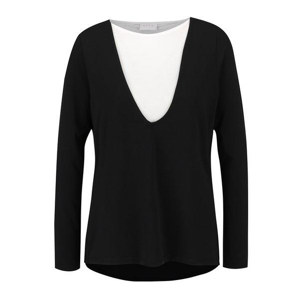 Bluză asimetrică negru cu alb VILA Bava