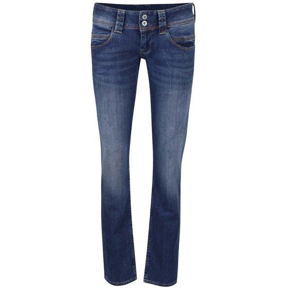 Jeanși albaștri cu talie joasă Pepe Jeans Venus de la Pepe Jeans in categoria Blugi, pantaloni, colanți