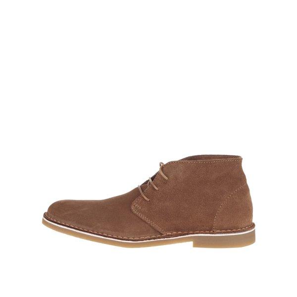 Ghete maro Selected Homme Royce din piele întoarsă de la Selected Homme in categoria pantofi și mocasini