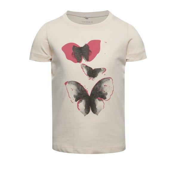 Tricou roz pal name it Veen Jolly cu print pentru fete