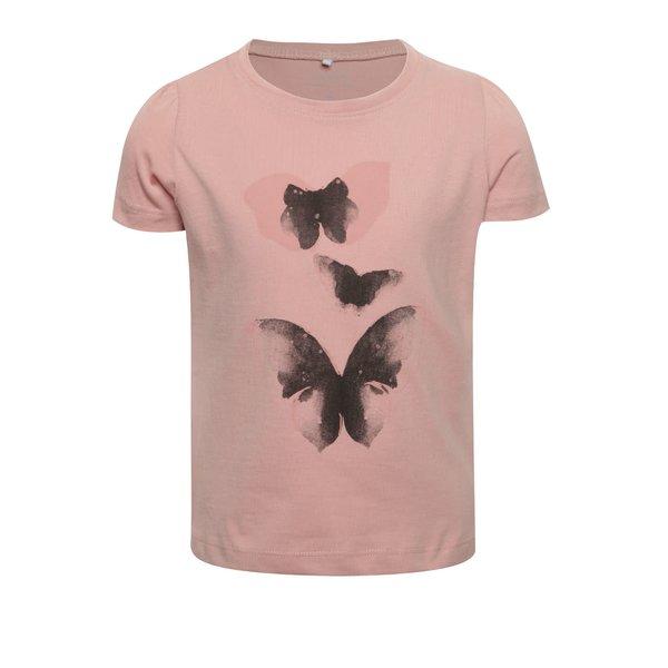 Tricou roz name it Veen Jolly cu print pentru fete