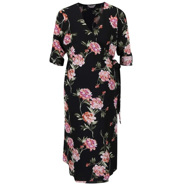 Rochie neagra cu model floral Dorothy Perkins Maternity