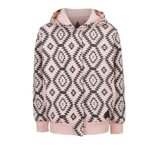 Hanorac roz & negru 5.10.15. cu imprimeu cu motive geometrice pentru fete
