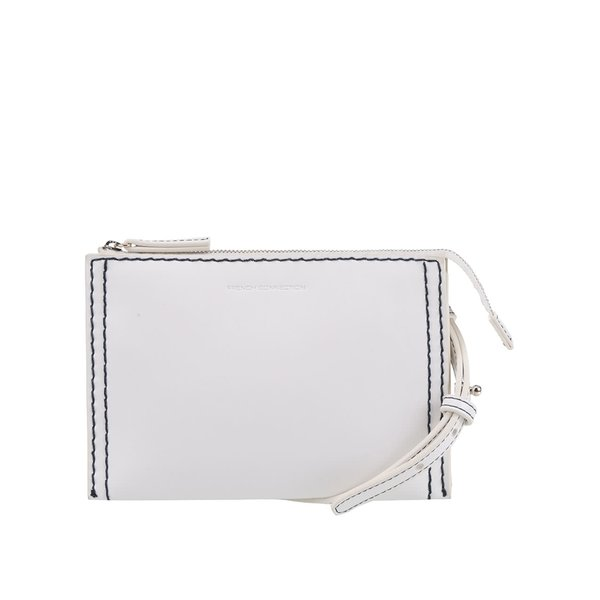 Geantă plic crossbody crem French Connection Stabstitch cu detalii contrast de la French Connection in categoria genți mici