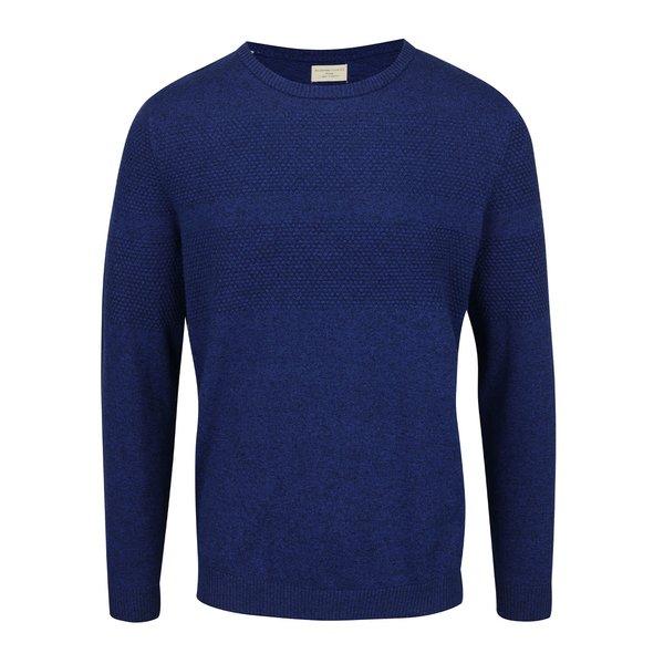 Bluză albastru închis Selected Homme Jogn din bumbac cu model discret de la Selected Homme in categoria Pulovere și hanorace