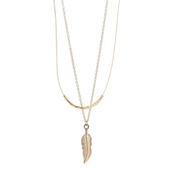 Colier auriu& crem Haily's cu pandantiv de la Haily´s in categoria Ceasuri și bijuterii