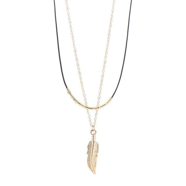 Colier auriu& negru Haily's cu pandantiv de la Haily´s in categoria Ceasuri și bijuterii