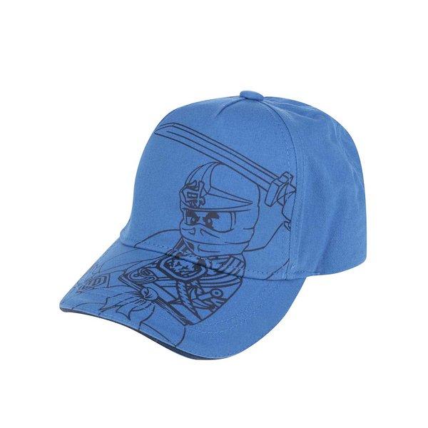 Șapcă albastră LEGO Wear Carlos din bumbac cu print pentru băieți