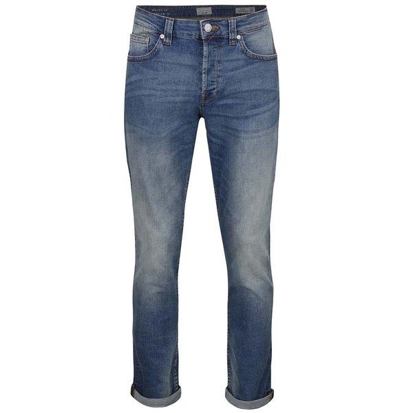 Blugi regular fit albastru deschis cu aspect prespălat ONLY & SONS Weft