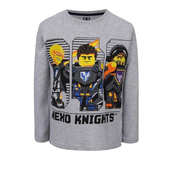Bluză gri melanj LEGO Wear cu print pentru băieți