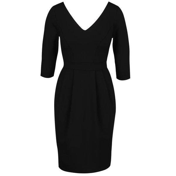 Rochie neagră Closet cu mâneci trei sferturi