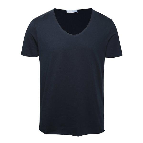 Tricou basic albastru inchis- Selected Homme Merce