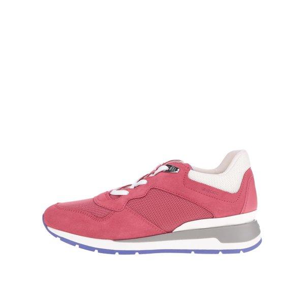 Pantofi sport roz Geox Shahira cu detalii albe de la Geox in categoria pantofi sport și teniși