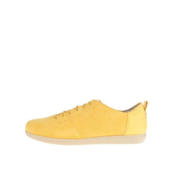 Pantofi sport galbeni Geox New Do din piele întoarsă de la Geox in categoria pantofi sport și teniși